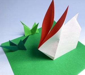 【折り紙でうさぎ】ユーチューブでスロー再生して作る方法!