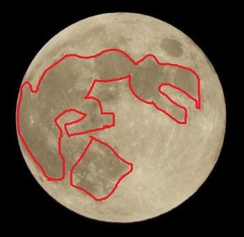 月うさぎの餅つき